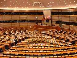 Hémicycle du Parlement à Bruxelles