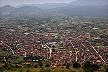 Tetovo vue depuis la montagne