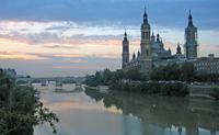 Řeka v Zaragoze.