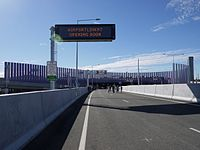 Heading northbound toward Southern Portal from Fortitude Valley on ramp (Preview Walk)