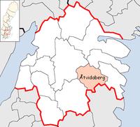 Atvidaberg Municipality in Östergötland County.png