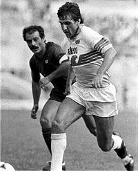Bruno Giordano with the SS Lazio jersey.