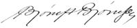 Bjørnstjerne Bjørnsons signatur