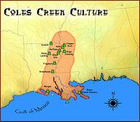 Coles Creek culture map HRoe 2010.jpg