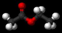 Model molekuly octanu ethylnatého