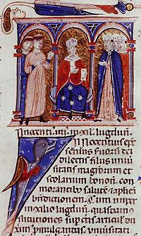 Inocenc IV. na Lyonském koncilu