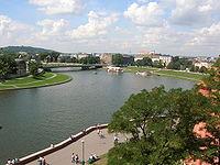 řeka v Krakově