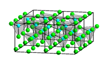 Krystalová struktura chloridu zinečnatého