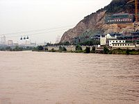 řeka v Lan-čou v provincii Kan-su