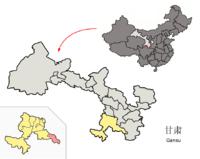 Location of Zhugqu within Gansu (China).png