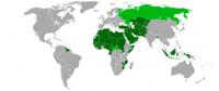 Localização dos membros da OCI no mundo.