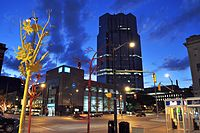 One London Place Night.JPG
