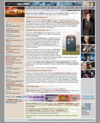 Outpost Gallifrey front page on 23 August 2006