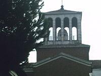 La cupola ricostruita dall'Arch. Zanda