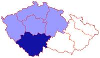 Poloha českobudějovické diecéze v rámci české církevní provincie