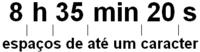 Representação correta de hora, minuto e segundo para o tempo