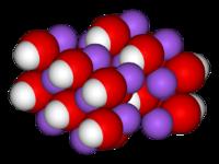 Krystalová mřížka hydroxidu sodného