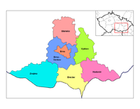 Districts of South Moravia