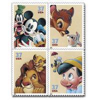 Francobolli Disney, emessi dalle poste americane nel 2004