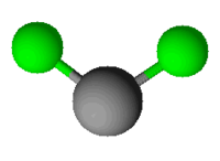 Model molekuly chloridu titanatého
