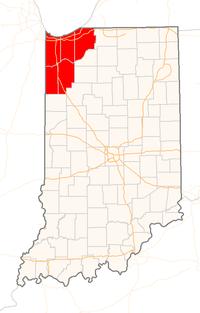 Map of Northwest Indiana