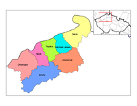 Districts of Usti nad Labem