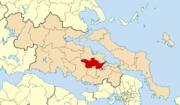Dème d'Orchomène suite à la réforme Kallikratis (2010)