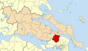 Dème de Tanagra suite à la réforme Kallikratis (2010)