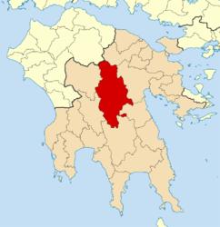 Dème de Tripoli suite à la réforme Kallikratis (2010)