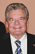Le président de la République fédérale d'Allemagne, Joachim Gauck et la chancelière fédérale, Angela Merkel.