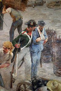 Difensori di Venezia assediata nel 1849.[120]