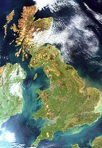 La Gran Bretagna vista da un satellite artificiale, 6 aprile 2002