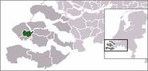 Kart over Middelburg