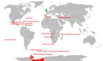 英国海外领土和皇家属地所在位置