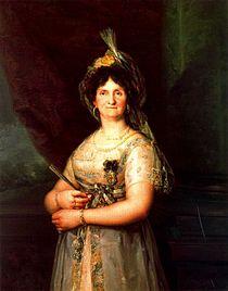 Portret al reginei Maria Luisa de Vicente López, după un original de Goya (1816).