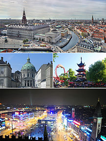 Sens orar: Slotsholmen, Grădinile Tivoli, Piața Primăriei, Biserica Marble