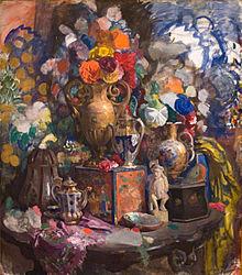 Сапунов - Цветы и фарфор (1912).jpg