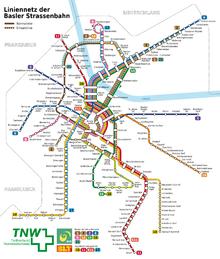 Basel - Straßenbahn - Netzplan 2009.png