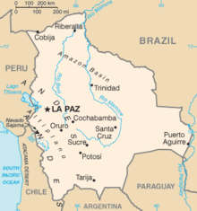 Mapa do Bolívia