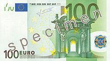 100 Euro, Vorderseite