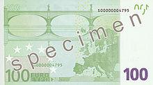 100 Euro, Rückseite
