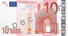 10 Euro, Vorderseite