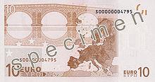 10 Euro, Rückseite