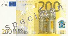 200 Euro, Vorderseite