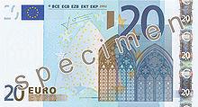 20 Euro, Vorderseite