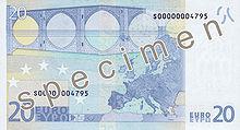 20 Euro, Rückseite