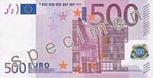 500 Euro, Vorderseite
