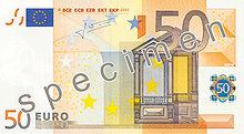 50 Euro, Vorderseite