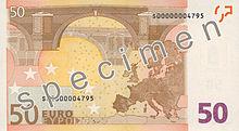 50 Euro, Rückseite