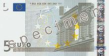 5 Euro, Vorderseite